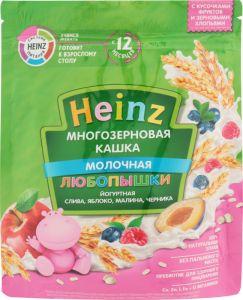 Каша Хайнц 200 гр Любопышка многозерновая йогуртная слива, яблоко, малина, черника