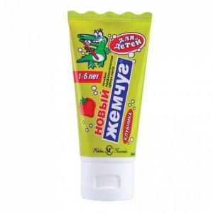 Зубная паста Новый жемчуг 50 мл детский Клубника