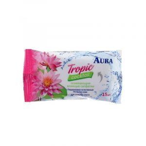 Влажные салфетки освеж. FRESH pocket-pack 15 шт AURA
