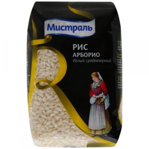 Рис Арборио Белый среднезерный 500 гр Мистраль