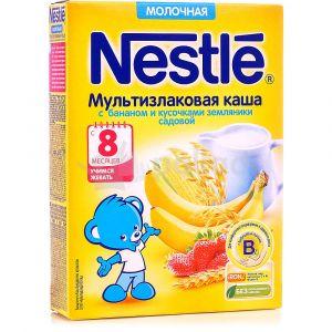 Каша Нестле 220 гр мультизлаковая банан/земляника