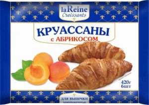 Круассаны с абрикосом La Reine 420гр