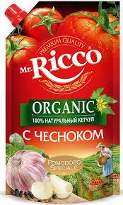 Кетчуп Mr.Ricco 350гр С чесноком д/п
