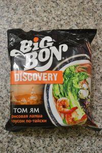 Лапша рисовая по-тайски с соусом Том Ям 75гр пакет BIG BON