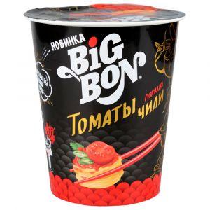 Лапша BigBon 105гр Томаты и Чили стакан