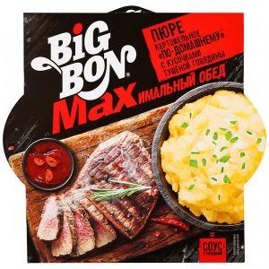"""Карт. пюре """"BIG BON"""" по-домашнему с кус.туш. говядины и соусом 110гр. чашка"""