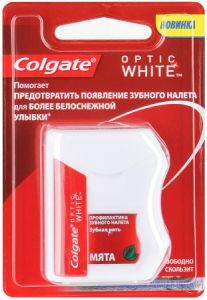 Зубная нить Колгейт 25 м Optic White