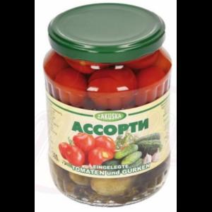Ассорти 4 сезона (томаты /огурцы) 680гр
