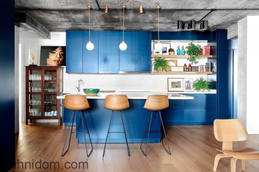 Кухня LUCIDO Синяя
