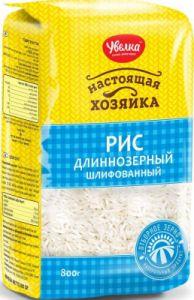 Рис длиннозерный шлифованный 800гр