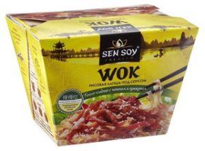 Лапша рисовая под Китайским соусом WOK 125 гр Сэнсой Премиум