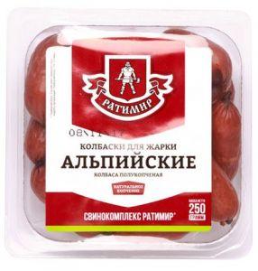"""Колбаски п/к """"Вкусные"""" 250 г Ратимир"""