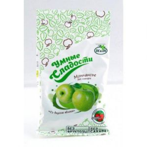 """Леденцы без сахара """"Умные сладости"""" зеленое яблоко 55 гр"""