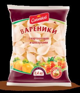 Вареники с картофелем и шкварками 400 гр Сальников