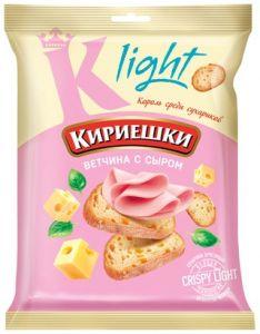 Кириешки Light Ветчина сыр 33г.