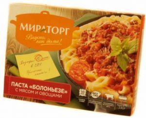 Паста Болоньезе с мясом и овощами 330г Мираторг Россия