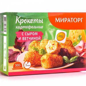 Крокетсы картоф. с сыром и ветчиной 300г Мираторг Россия
