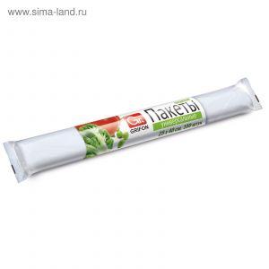 Пакеты универсальные GRIFON 5 л(25*40 см,8мкм) 100 шт в рулоне
