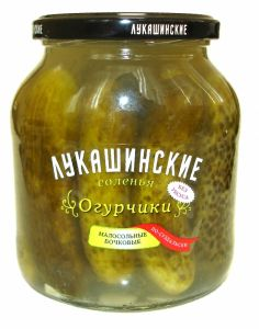 """Огурчики малосольные по-суздаль 670 гр """"Лукашинские"""""""