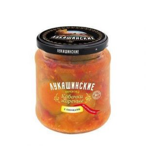 """Кабачки жарен.по-Астрахански с овощами 500 гр """"Лукашинские"""""""
