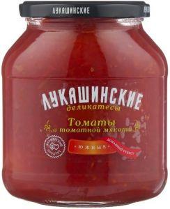 """Огурчики Южные в томатной мякоти 670 гр """"Лукашинские"""""""