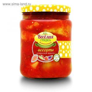 Ассорти Овощное в томатной мякоти 950гр Вес. грядка