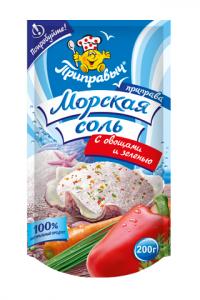 Приправа Морская соль 200 г овощи+зелень дой-пак