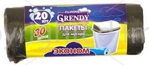 Пакет для мусора ГРЕНДИ 30л/30шт Эконом