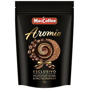 Мак Кофе Aromio 75гр Сублим. с добавлением кофе нат. молотого д/п