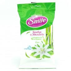 Влажные салфетки Бамбук $ Эдельвейс 15 шт Smile