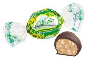 Конфеты Халва с орехом круглая Сладость