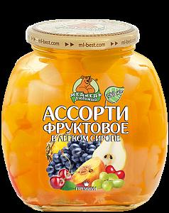 Компот Ассорти фруктовое 580 мл Медведь любимый ст/б