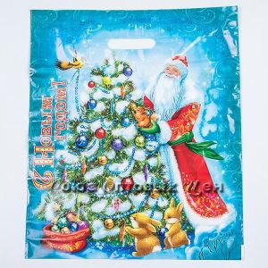 Пакет Новогодние игрушки прор.ПВД 40*47/45 мкм НГ 50/1000