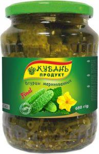 Огурцы марин. 680 гр 6-9 см Кубань продукт