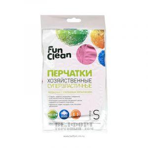 Перчатки FUN CLEAN хозяйственные L малиновые