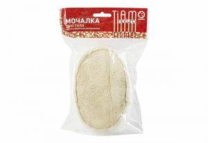 Мочалка из люффы TIAMO Natura Овал объемный, поролон+махра А21