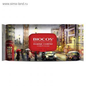 Влажные салфетки BIOCOS 60шт Столицы мира (Лондон, Токио, Москва)