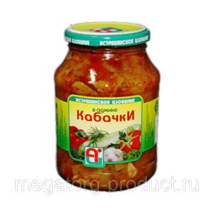 Кабачки консерв. в дробл.томатной мякоти 720 гр с/б Астраханское изобилие