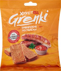 Гренки Хрустец 80гр со вкусом баварских колбасок