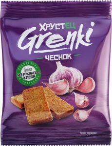 Гренки Хрустец 80гр со вкусом чеснока