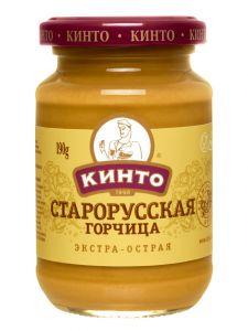 "Горчица Старорусская острая ТМ ""КИНТО"" 170 мл"