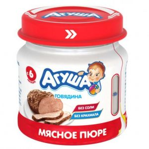 Пюре мясное Агуша 80 гр