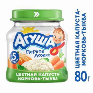 Пюре овощное Агуша 80г Цветная капуста-Морковь-Тыква