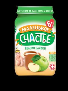 Пюре Маленькое счастье 180г Яблоко ст/б