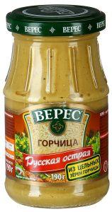 Горчица Русская острая 190 гр ст/б Верес