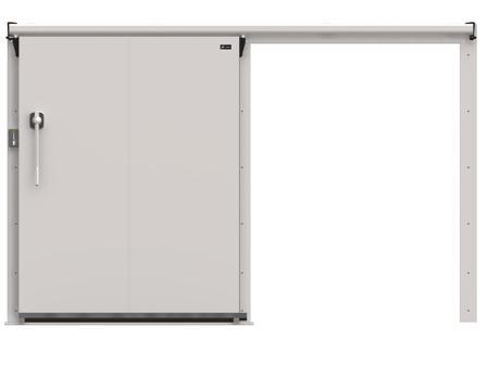 Дверные блоки Ирбис ОД(КС)-1200.1800 среднетемп. (80 мм)
