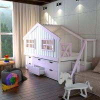 Кровать-чердак Домик Calipso Factory №9