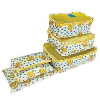 Набор дорожных сумок для путешествий Laundry Pouch, 6 шт, Смайлики