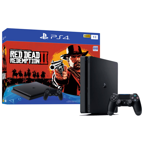 Игровая приставка Sony PlayStation 4 Slim 1TB (CUH-2108B) + игра Red Dead Redemption 2