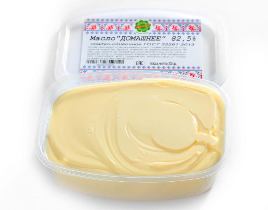 "Масло сливочное ""ДОМАШНЕЕ""  82,5%  250 гр"